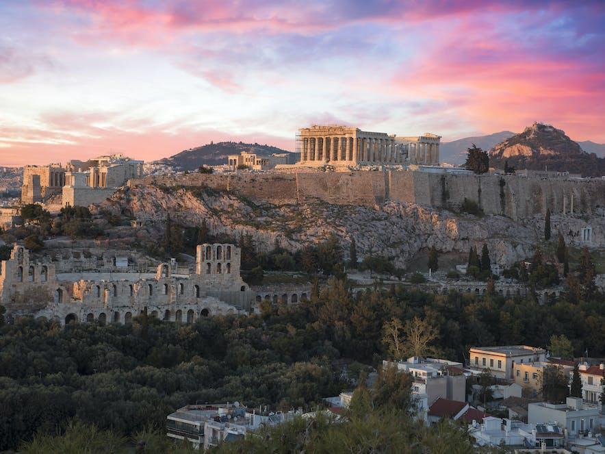 Akropolis bei Abenddämmerung, Athen | griechenland.de