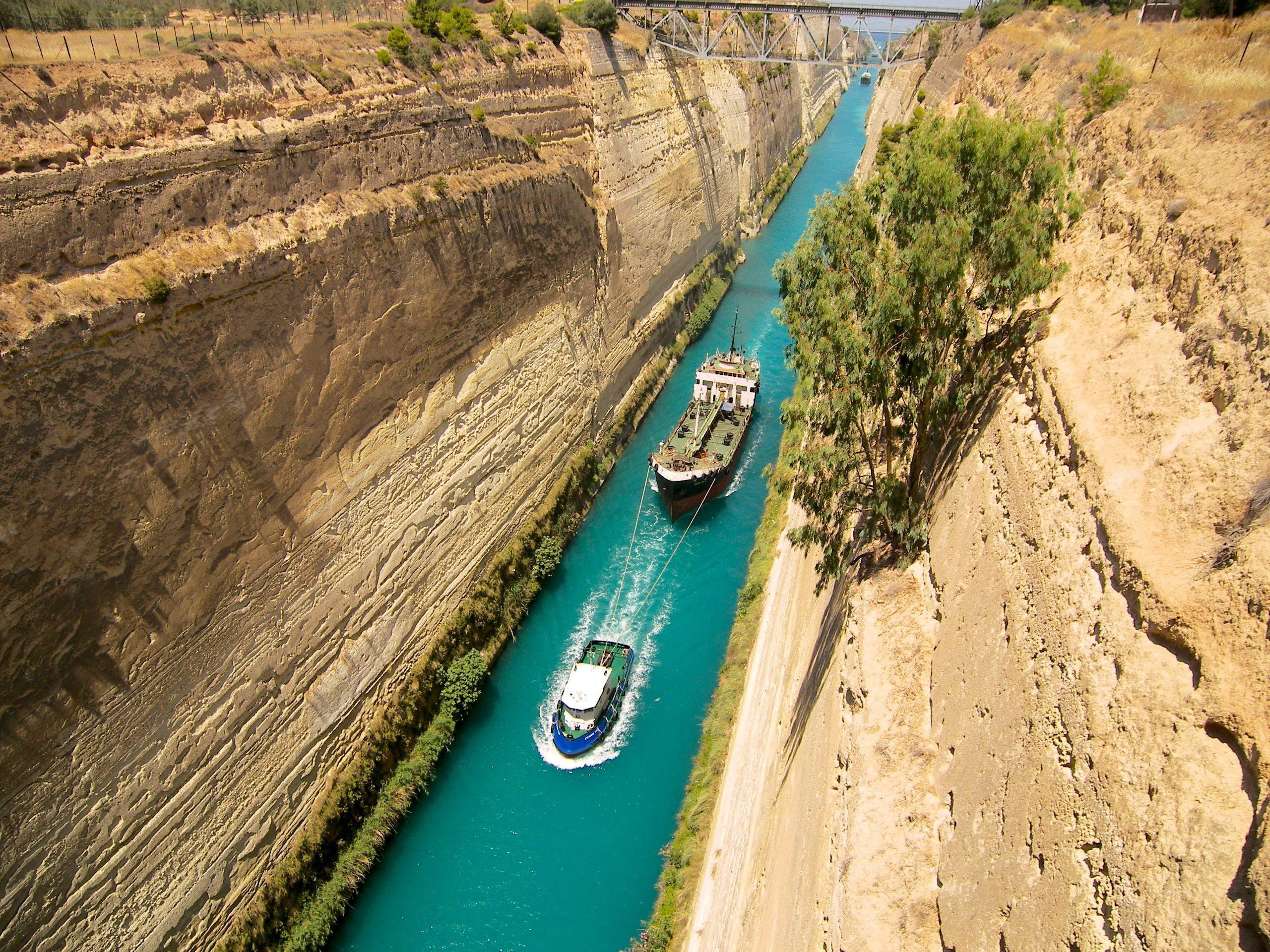 Kanal Von Korinth   griechenland.de