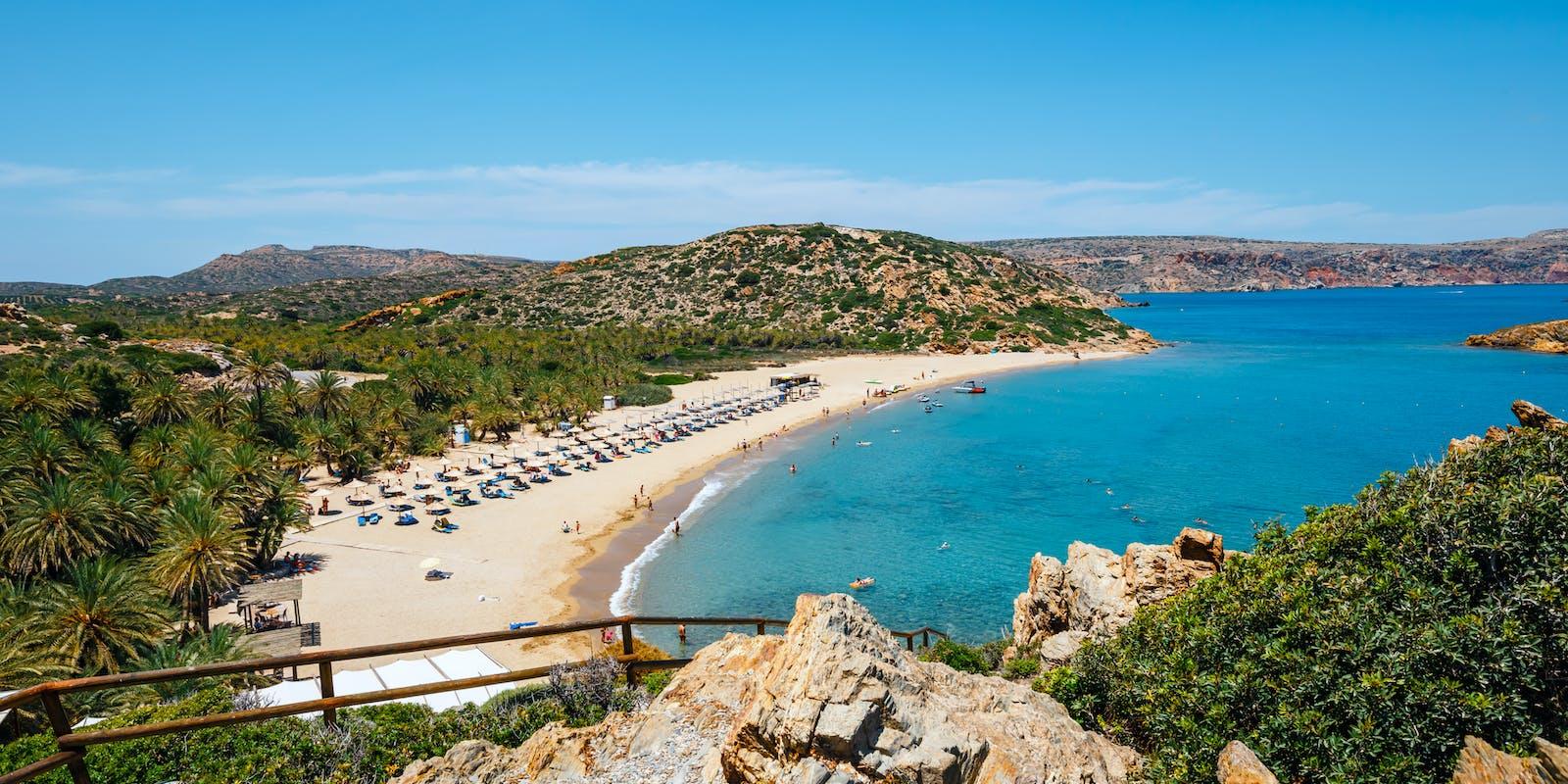 Palmenstrand von Vai, Kreta   Griechenland.de