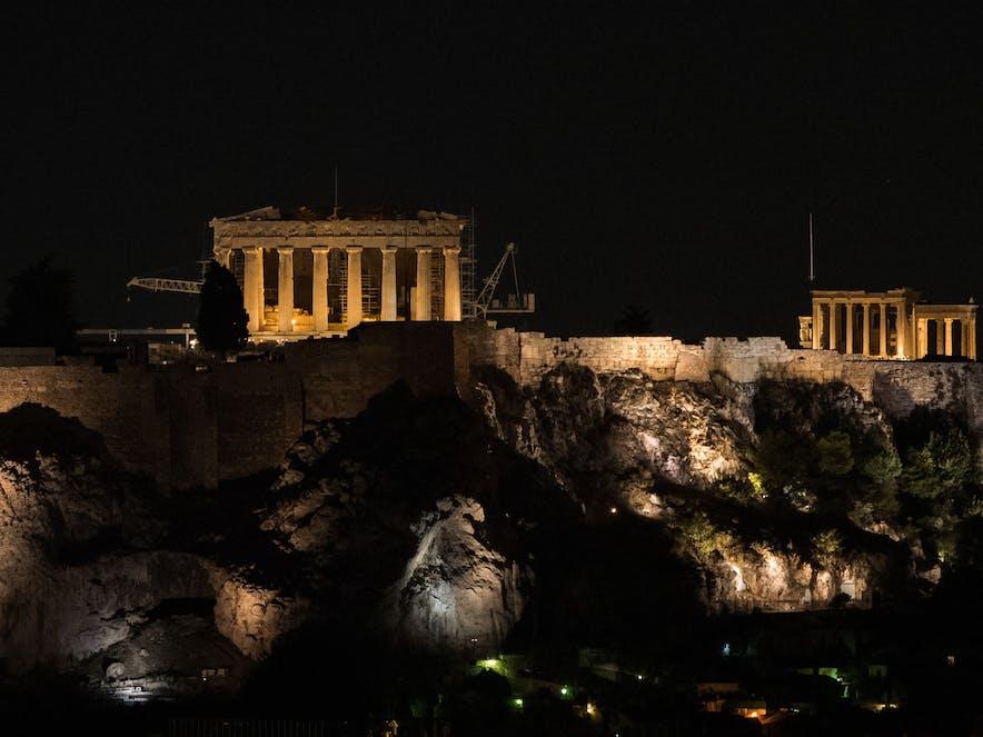Der Parthenon in Athen bei Nacht | griechenland.de