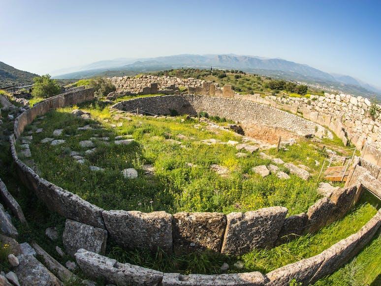 Ruinen in Mykene, Peleponnes | griechenland.de