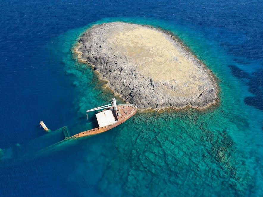 Schiffswrack Nordland, Kythira   Griechenland.de