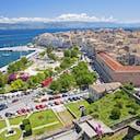 Skyline Stadt Korfu Griechenland