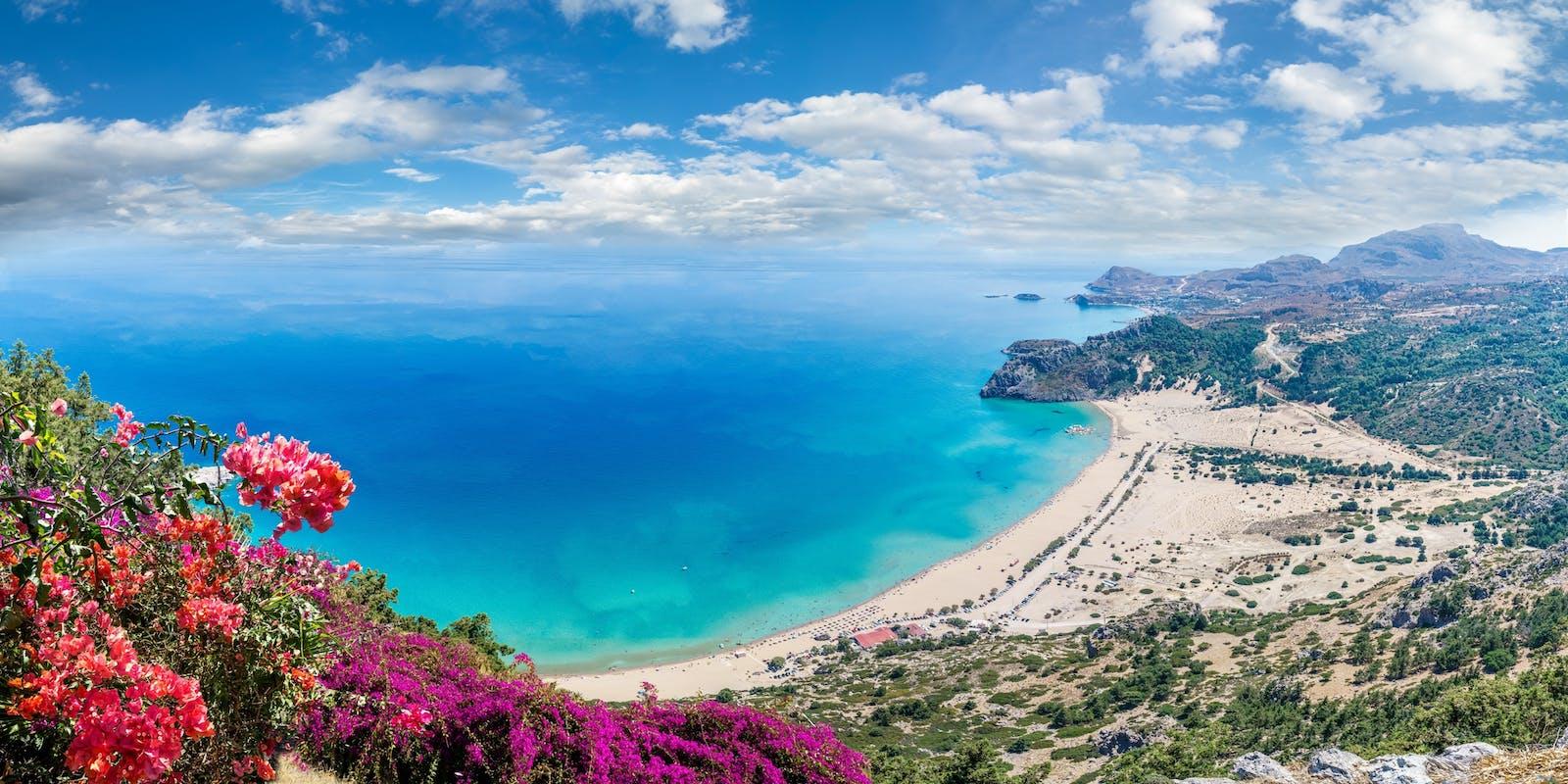 Tsambika Beach, Rhodos   Griechenland.de